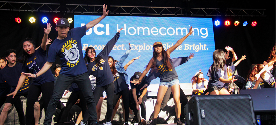 MCIA dances on stage at UCI Homecoming 2015
